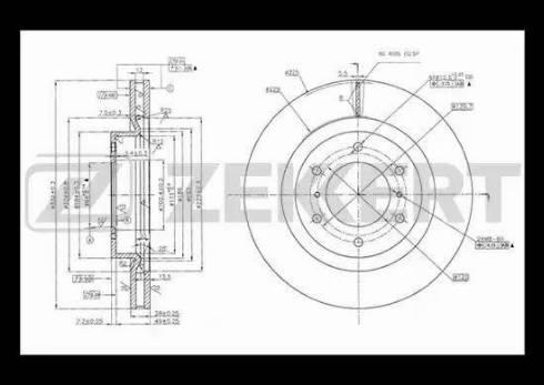 Zekkert BS-5433 - Bremžu diski interparts.lv