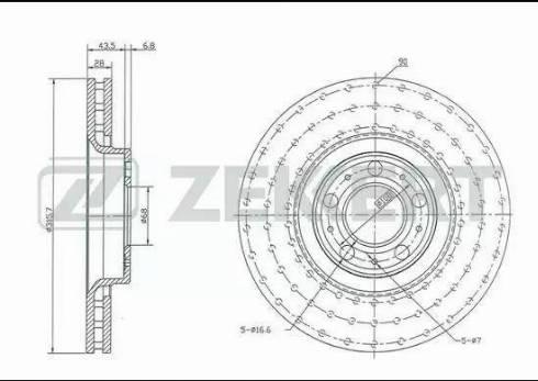 Zekkert BS-5429 - Bremžu diski interparts.lv