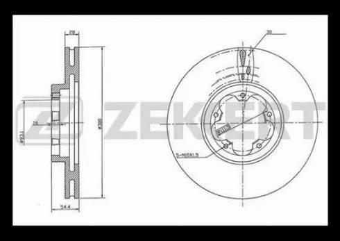Zekkert BS-5424 - Bremžu diski interparts.lv