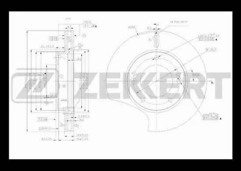 Zekkert BS-5475 - Bremžu diski interparts.lv