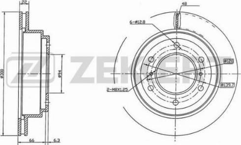 Zekkert BS-5471 - Bremžu diski interparts.lv