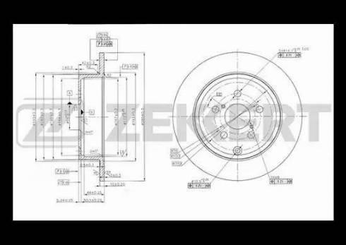 Zekkert BS-5473 - Bremžu diski interparts.lv