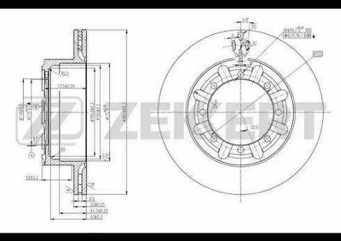 Zekkert BS-5595 - Bremžu diski interparts.lv