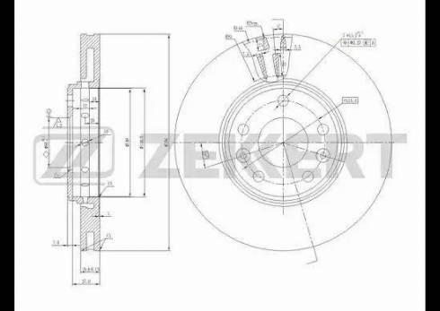 Zekkert BS-5590 - Bremžu diski interparts.lv