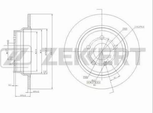 Zekkert BS-5598 - Bremžu diski interparts.lv