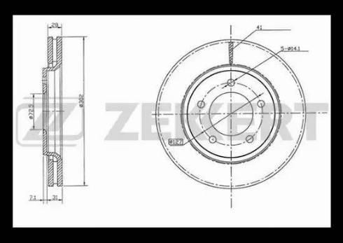 Zekkert BS-5505 - Bremžu diski interparts.lv