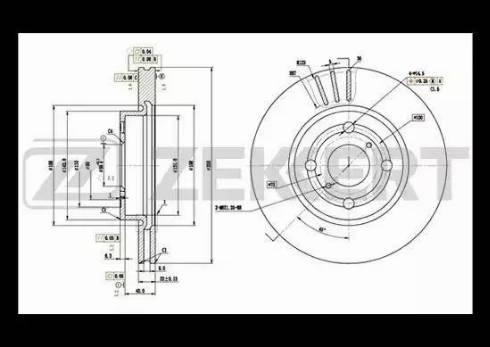 Zekkert BS-5507 - Bremžu diski interparts.lv