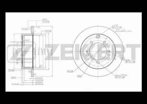 Zekkert BS-5513 - Bremžu diski interparts.lv