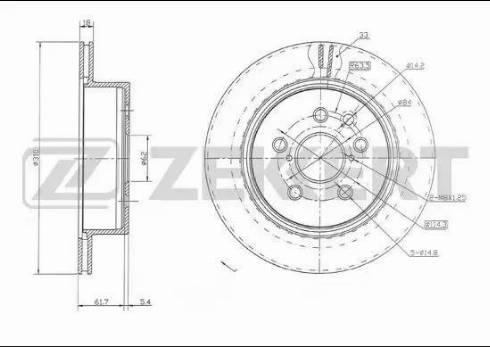 Zekkert BS-5649 - Bremžu diski interparts.lv