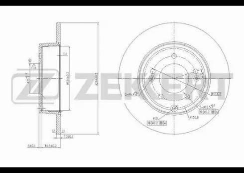 Zekkert BS-5640 - Bremžu diski interparts.lv