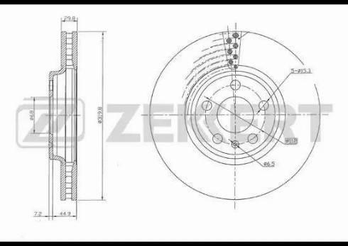 Zekkert BS-5641 - Bremžu diski interparts.lv