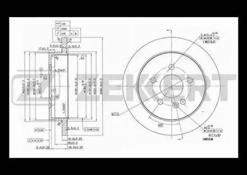 Zekkert BS-5606 - Bremžu diski interparts.lv
