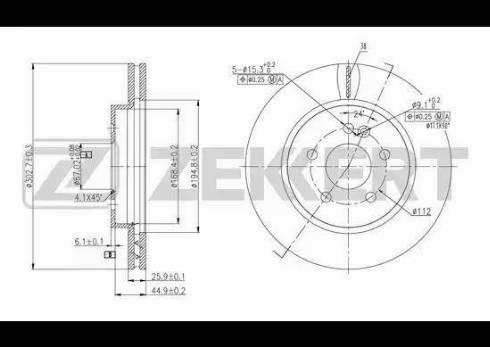 Zekkert BS-5601 - Bremžu diski interparts.lv