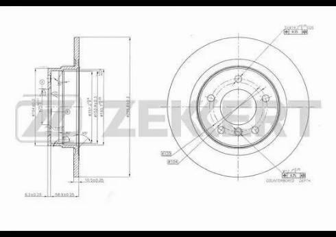 Zekkert BS-5616 - Bremžu diski interparts.lv