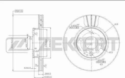 Zekkert BS-5612 - Bremžu diski interparts.lv