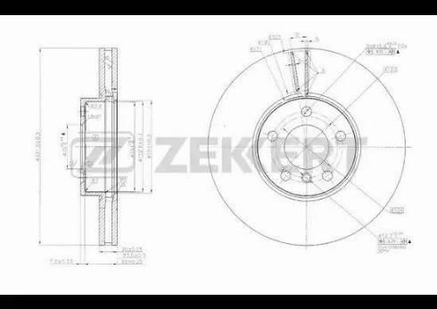 Zekkert BS-5634 - Bremžu diski interparts.lv