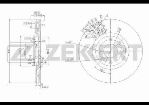 Zekkert BS-5636 - Bremžu diski interparts.lv