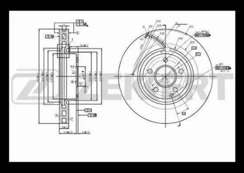 Zekkert BS-5638 - Bremžu diski interparts.lv