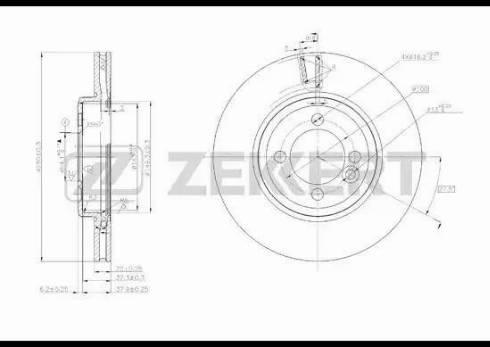 Zekkert BS-5623 - Bremžu diski interparts.lv