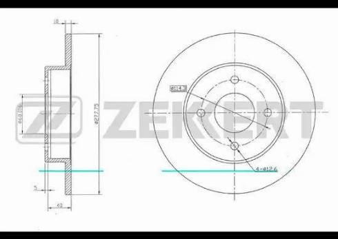 Zekkert BS-5675 - Bremžu diski interparts.lv