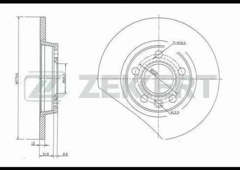 Zekkert BS-5094 - Bremžu diski interparts.lv