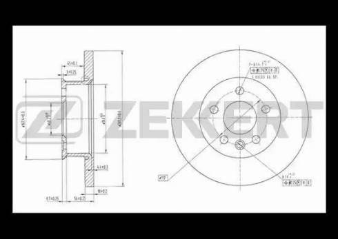 Zekkert BS-5095 - Bremžu diski interparts.lv