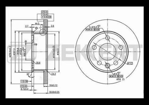 Zekkert BS-5096 - Bremžu diski interparts.lv