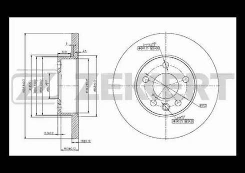 Zekkert BS-5093 - Bremžu diski interparts.lv