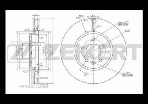 Zekkert BS-5049 - Bremžu diski interparts.lv