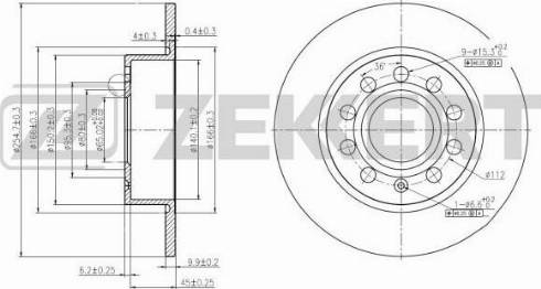 Zekkert BS-5044 - Bremžu diski interparts.lv