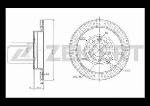Zekkert BS-5046 - Bremžu diski interparts.lv