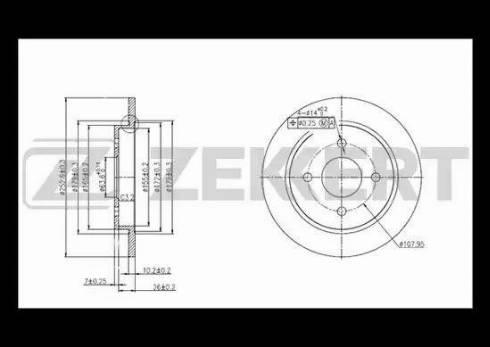 Zekkert BS-5040 - Bremžu diski interparts.lv
