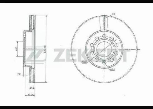 Zekkert BS-5043 - Bremžu diski interparts.lv