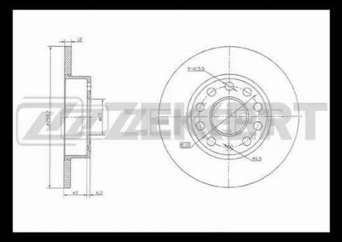 Zekkert BS-5042 - Bremžu diski interparts.lv