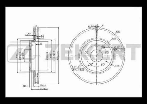 Zekkert BS-5050 - Bremžu diski interparts.lv