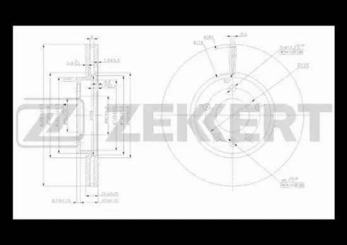 Zekkert BS-5051 - Bremžu diski interparts.lv