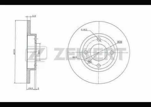 Zekkert BS-5069 - Bremžu diski interparts.lv
