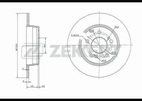 Zekkert BS-5062 - Bremžu diski interparts.lv