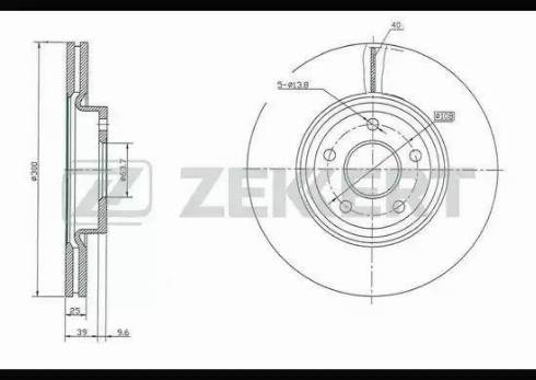 Zekkert BS-5006 - Bremžu diski interparts.lv