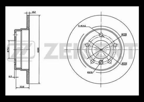 Zekkert BS-5002 - Bremžu diski interparts.lv