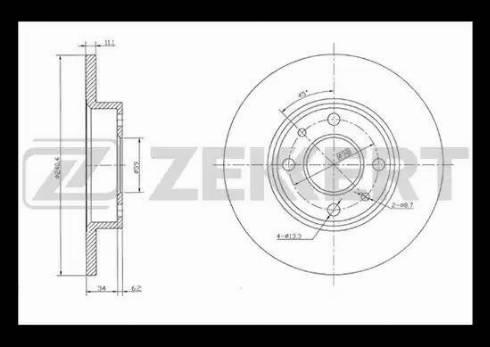 Zekkert BS-5007 - Bremžu diski interparts.lv