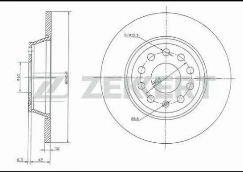 Zekkert BS-5015 - Bremžu diski interparts.lv