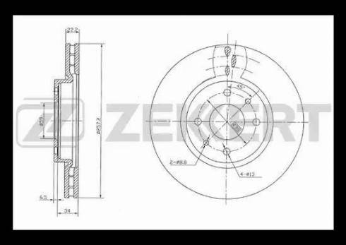 Zekkert BS-5086 - Bremžu diski interparts.lv