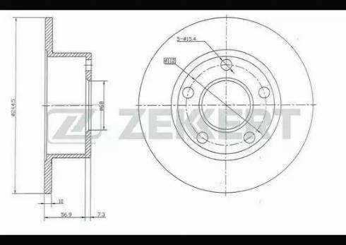 Zekkert BS-5080 - Bremžu diski interparts.lv