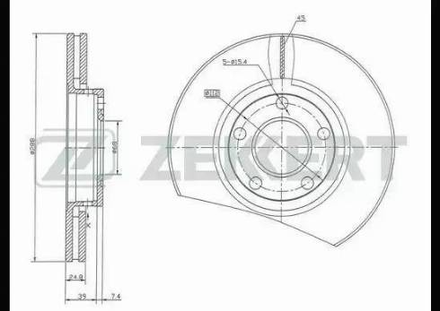 Zekkert BS-5083 - Bremžu diski interparts.lv