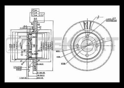 Zekkert BS-5082 - Bremžu diski interparts.lv