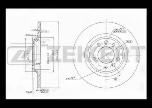 Zekkert BS-5039 - Bremžu diski interparts.lv