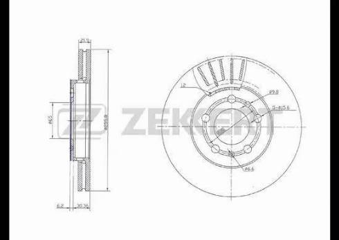 Zekkert BS-5031 - Bremžu diski interparts.lv