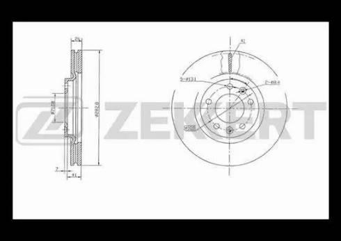 Zekkert BS-5038 - Bremžu diski interparts.lv