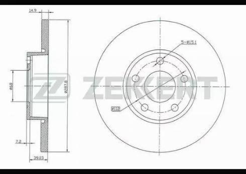 Zekkert BS-5078 - Bremžu diski interparts.lv
